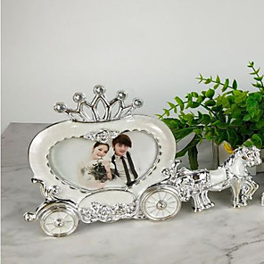 cheap Wedding Decorations-White princess carriage wedding photo frame European style creative stage