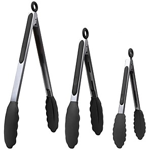 cheap novelty kitchen tools-Barbecue Grilling Tongs and Non-Stick Cake Clips Stainless Steel