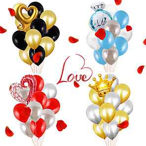 cheap Building Blocks-Party Balloons 12+1 pcs Valentine's Day Party Supplies Latex Balloons Paper Pom Poms Boys and Girls Party Wedding Decoration 12inch for Party Favors Supplies or Home Decoration