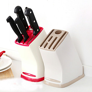 cheap novelty kitchen tools-Multifunctional Knife Storage Rack Universal Kitchen Accessories Light Drain Plastic Knife Holder