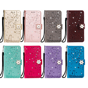 cheap Samsung Case-Case For Apple iPhone 11 / iPhone 11 Pro / iPhone 11 Pro Max Card Holder / Flip / Pattern Full Body Cases Animal / Glitter Shine / Flower PU Leather / TPU