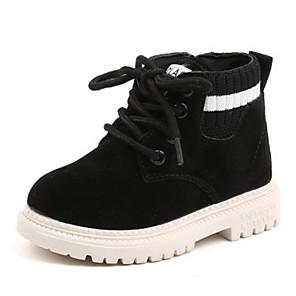 cheap Kids' Boots-Boys' / Girls' Combat Boots PU Boots Little Kids(4-7ys) Black / Brown / Gray Spring / Fall