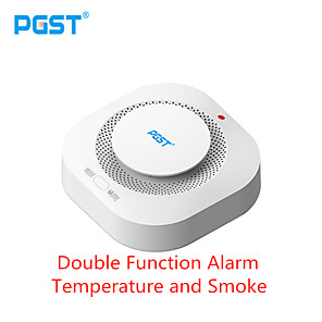 cheap Video Door Phone Systems-Pgst 433mhz Wireless Smoke Alarm Fire Detector Sensitive Home Safety Alarm Sensor Smoke Detector Smoke Room Fire Fighting Equipment
