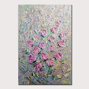 povoljno Slike za cvjetnim/biljnim motivima-mintura ručno oslikana modernim apstraktnim nožem cvijeće uljanim slikama na platnu zidna slika pop art plakata za uređenje doma spremna za vješanje