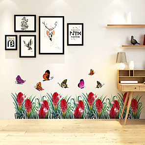 cheap Wall Stickers-Butterfly Wall Stickers Decorative Wall Stickers, PVC Home Decoration Wall Decal Wall Decoration / Removable