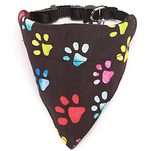 cheap Dog Clothes-Dog Cat Bandanas & Hats Dog Bandana Dog Bibs Scarf Cartoon Casual / Sporty Cute Christmas Birthday Dog Clothes Adjustable Costume Cotton S M L XL