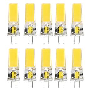 cheap LED Bi-pin Lights-10pcs 10 W LED Silica Gel Corn Lights LED Bi-pin Lights  G4 2508COB High Power LED Creative Party Decorative Crystal Chandelier Light source Energy-saving Light Bulbs Warm White White AC/DC12 V