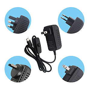 cheap Robots & Accessories-4 Generation 4B5V3A Power Adapter For Raspberry Pi Type-C UK Plug /US Plug/EU Plug/AU Plug Charging
