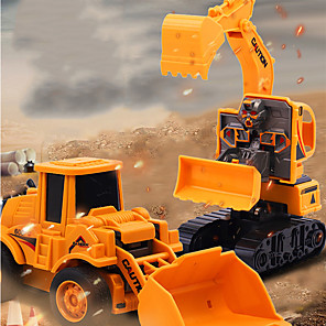 cheap Christmas Toys-Excavator Toy Construction Truck Toys Pull Back Car / Inertia Car Dump Truck Bulldozer Simulation Drop-resistant Plastic Mini Car Vehicles Toys for Party Favor or Kids Birthday Gift / Kid's