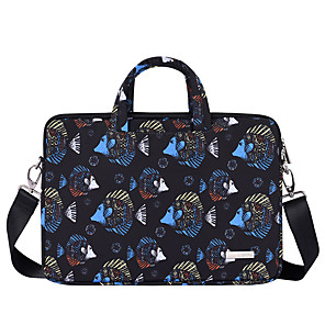 cheap Sleeves,Cases & Covers-Cover Fish Pattern Laptop Bag 13.3 15.6 14 inch Waterproof Notebook Bag Sleeve For Macbook Air Pro 13 15 Computer Shoulder Handbag Briefcase Bag