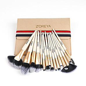 cheap Makeup Brush Sets-Professional Makeup Brushes 16pcs Soft Adorable Artificial Fibre Brush Plastic for Foundation Brush Lip Brush Lash Brush Eyebrow Brush Eyeshadow Brush Makeup Brush Set