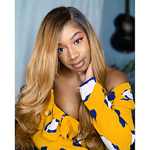 cheap Colored Hair Weaves-3 Bundles Hair Weaves Brazilian Hair Body Wave Human Hair Extensions Remy Human Hair Human Hair 300 g Weave 10-24 inch Brown Ombre Natural Full Head Set