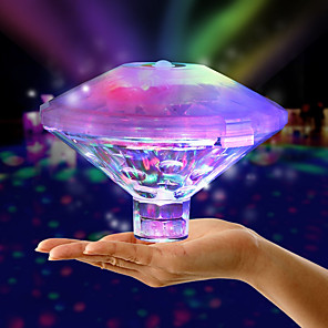 cheap Underwater Lights-Floating Underwater Light RGB Submersible LED Disco party Light Glow Show Swimming Pool Decoration Light Hot Tub Spa Lamp Baby Bath Light Not Battery Delivery