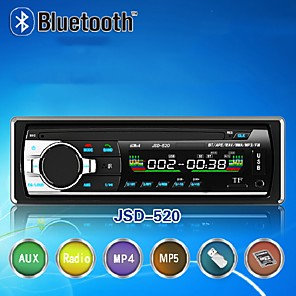 cheap Car Audio-JSD-520 Hands-free Multifunction Autoradio Car Stereo FM Radio MP3 Audio Player 5V Charger USB SD AUX Auto Electronics Subwoofer 1 DIN Autoradio