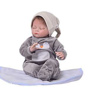 cheap RC Tanks-KEIUMI 22 inch Reborn Doll Baby & Toddler Toy Reborn Toddler Doll Baby Boy Gift Cute Lovely Parent-Child Interaction Tipped and Sealed Nails Half Silicone and Cloth Body with Clothes and Accessories