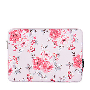 cheap Sleeves,Cases & Covers-11.6 Inch Laptop / 12 Inch Laptop / 13.3 Inch Laptop Sleeve PU Leather Floral Print / Flower for Women Waterpoof Shock Proof