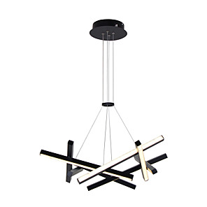 cheap Bathroom Sink Faucets-LED 32W Sputnik Chandelier Dia56CM Aluminum frame Black Painted finishes for Living Room Bedroom Coffee Bar Warm WhiteWhite Light