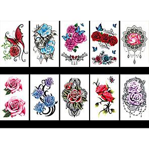 cheap Tattoo Stickers-LITBest 6 Sheets Randomly Temporary Tattoos Flower Temporary Tattoos for Women Teens Girls, Tiny Temporary Tattoo Adult Waterproof Body Art Sticker TBS8190-TBS8198