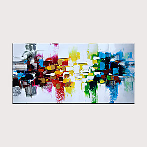 cheap Abstract Paintings-Handmade Colorful Textured Abstract Wall Art Modern Oil Painting Artwork