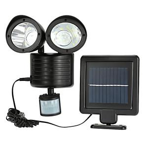 cheap LED String Lights-1pc 3 W Solar Wall Light Waterproof Solar Powered Motion Detection Monitor White 3.7 V Outdoor Lighting Courtyard Garden 22 LED Beads
