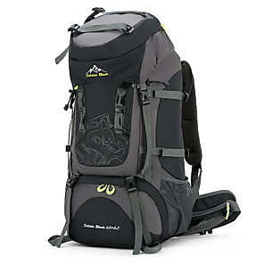 cheap Backpacks & Bags-70 L Hiking Backpack Rucksack Breathable Straps - Breathable Rain Waterproof Quick Dry Wear Resistance Outdoor Hunting Hiking Camping Nylon Black Red Navy Blue / Yes