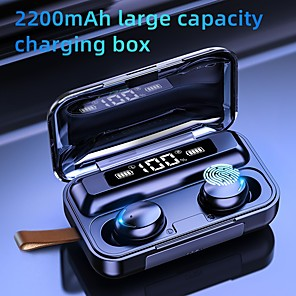 cheap TWS True Wireless Headphones-F9 TWS Bluetooth 5.0 Earphones 2200mAh Charging Box Wireless Headphone 9D Stereo Sports Waterproof Earbuds Headsets With Microphone