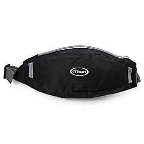cheap Backpacks & Bags-1.5 L Hiking Waist Bag Lightweight Windproof Rain Waterproof Quick Dry Outdoor Marathon Fishing Hiking Polyester Black Blue Pink