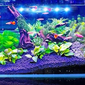 cheap LED Strip Lights-Aquarium Light Aquarium Decoration LED Light Fish Tank Light White Blue Energy Saving Plastic 1 W 220 V / #