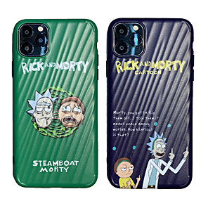 cheap Everyday Cosplay Anime Hoodies & T-Shirts-Case For Apple iPhone 11 / iPhone 11 Pro / iPhone 11 Pro Max Rick and Morty Shockproof Back Cover Lines / Waves TPU