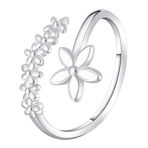 cheap Rings-Women's Ring 1pc White Silver Gray Platinum Plated Alloy Stylish Daily Jewelry Cute