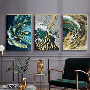 cheap Abstract Paintings-Still Life Wall Decor Nonwoven / Metal Animals Wall Art, Metal Wall Art Decoration