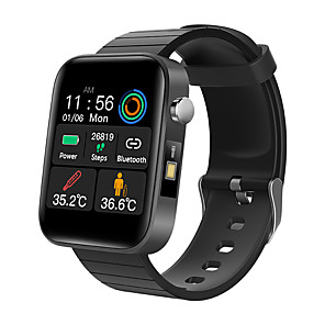 cheap Smartwatches-T68 Men's Smart Wristbands Android iOS Bluetooth Heart Rate Monitor Blood Pressure Measurement Calories Burned Thermometer Health Care Pedometer Call Reminder Sleep Tracker Sedentary Reminder Find My