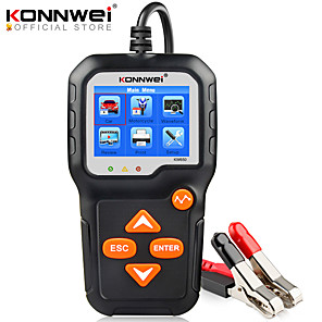 cheap OBD-KONNWEI KW650 Battery Tester 12V 6V Car Motorcycle Battery System Analyzer 2000CCA Charging Cranking Test Tools for the Car