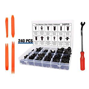 cheap Car Paint Pen-240pcs Automobile Buckle Plastic Rivets 12 Kinds Of Common Fasteners For Decorative Panel Door Clip Bumper