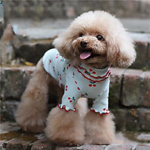 cheap Dog Clothes-Dog Shirt / T-Shirt Pajamas Fruit Casual / Sporty Cute Party Casual / Daily Dog Clothes Warm White Blue Pink Costume Cotton XXXS XXS XS S M L