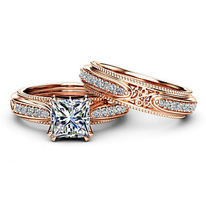 cheap Rings-Women's Ring AAA Cubic Zirconia 2pcs Rose Gold Platinum Plated Alloy Stylish Daily Jewelry Cute