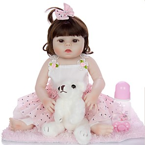 cheap Building Blocks-KEIUMI 19 inch Reborn Doll Baby & Toddler Toy Reborn Toddler Doll Baby Girl Gift Cute Washable Lovely Parent-Child Interaction Full Body Silicone 19D13-C366-T19 with Clothes and Accessories for
