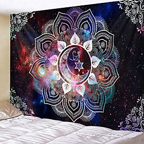 cheap Wall Tapestries-Mandala Bohemian Wall Tapestry Art Decor Blanket Curtain Hanging Home Bedroom Living Room Dorm Decoration Boho Hippie Psychedelic Floral Flower Lotus Moon Star Indian