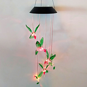 cheap Pathway Lights-Solar Energy Outdoor Lights Colorful Wind Chimes LED Hummingbird Butterfly Sea Urchin Christmas Outdoor Garden Decorative Landscape Lights