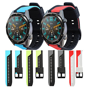 cheap Smartwatch Bands-Sport Silicone Wrist Strap Watch Band for Huawei Watch GT 2e / Honor Magic Watch 2 46mm / GT Active / Watch 2 Pro / GT2 46mm Replaceable Bracelet Wristband