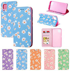 cheap Video Door Phone Systems-Case For Huawei Honor 10 Lite Honor 8A 9C 9A Y9 Prime Y6 2019 Card Holder with Stand Flip Full Body Cases Flower PU Leather / TPU For Huawei P40 Lite E Nova 6SE 7i P Smart Z Y7P