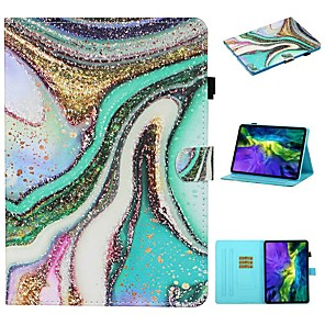cheap iPad case-Case For Apple iPad Pro 11 2020 ipad 10.2 Air 10.5 2019 mini 12345 2017 2018 9.7 Card Holder with Stand Flip Full Body Cases Scenery PU Leather