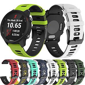cheap Smartwatch Bands-Sport Silicone Wrist Strap Watch Band for Garmin Vivoactive 3 Music / Vivomove HR / Forerunner 245 Music / 645 Music / Venu / Fenix Chronos / Vivoactive 4 Replaceable Bracelet Wristband