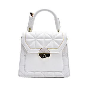 cheap Handbag & Totes-Women's Bags PU Leather Top Handle Bag for Event / Party / Daily White / Black / Khaki / Fall & Winter