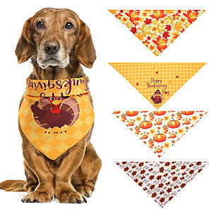cheap Dog Clothes-Dog Cat Bandanas & Hats Dog Bandana Dog Bibs Scarf Cartoon Party Cute Party Halloween Dog Clothes Adjustable Costume Fabric L