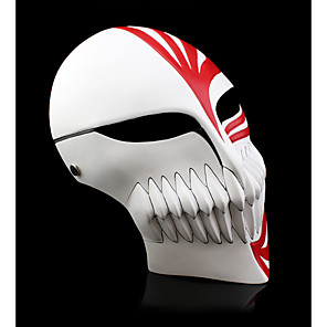 cheap Movie & TV Theme Costumes-Halloween Props Inspired by Ichigo Kurosaki Black Red Adults' Men's Women's / Mask
