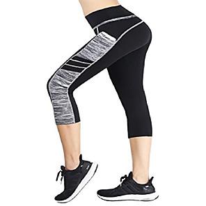 povoljno Odjeća za fitness, trčanje i jogu-ženske kapris tenisice vježba trčanje dokolenice joga hlače l (bk / siva)