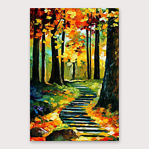 cheap Abstract Paintings-IARTS®Hand Painted Autumn Oil Painting   with Stretched Frame For Home Decoration