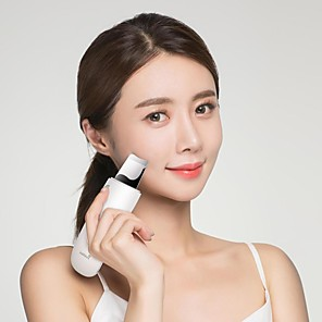 abordables Pelucas Naturales de Malla-xiaomi wellskins depurador ultrasónico de la piel facial limpieza profunda de la cara espinilla eliminar el instrumento de belleza de limpieza recargable