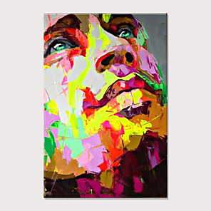 cheap People Paintings-Palette knife Abstract People Face Art Paintings Canvas Wall Art Modern Home living room Office Decor Abstract Painting